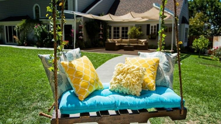 Altalena da giardino in pallet e soluzioni originali fai da te