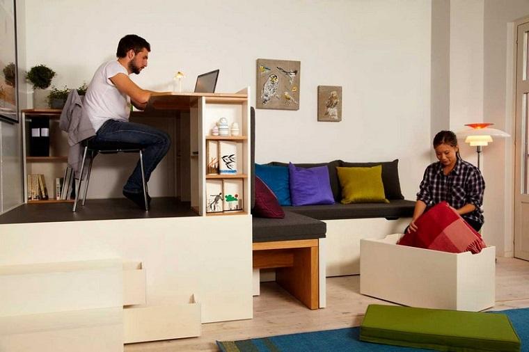 Mobili salvaspazio soluzioni per un monolocale o una for Soluzioni arredo monolocale