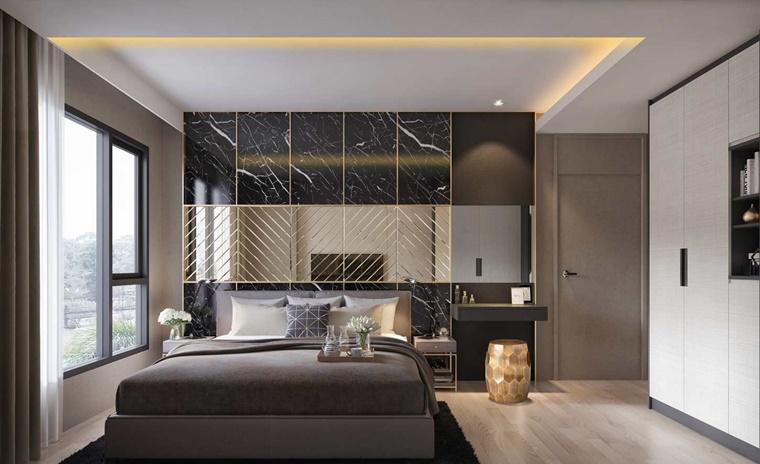 idea camera letto soffitto illuminato
