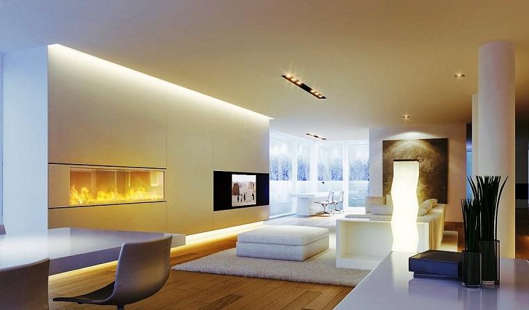Parete attrezzata con camino e tv: 18 modi per arredare il soggiorno ...