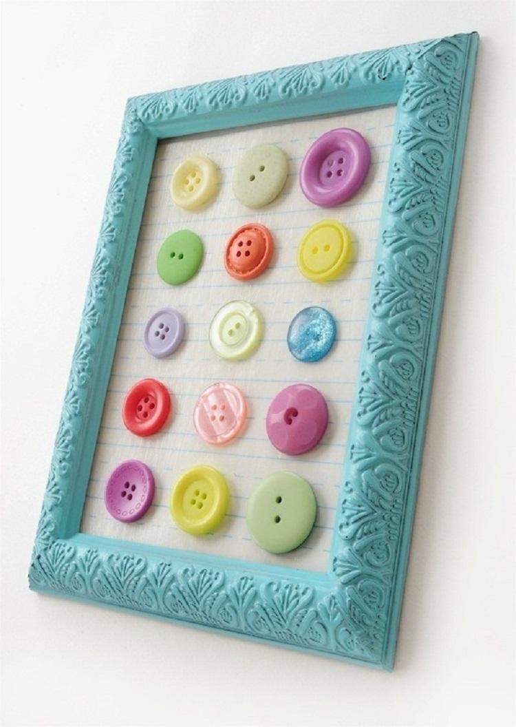 idea originale colorata vivace bottoni