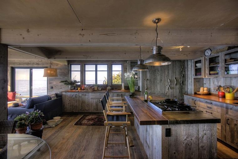 idea originale cucina design rustico mobili legno