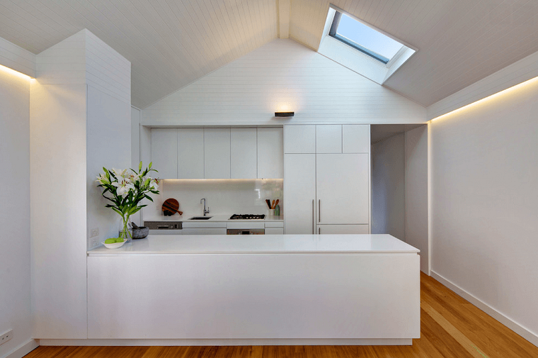idea semplice elegante cucina bianca