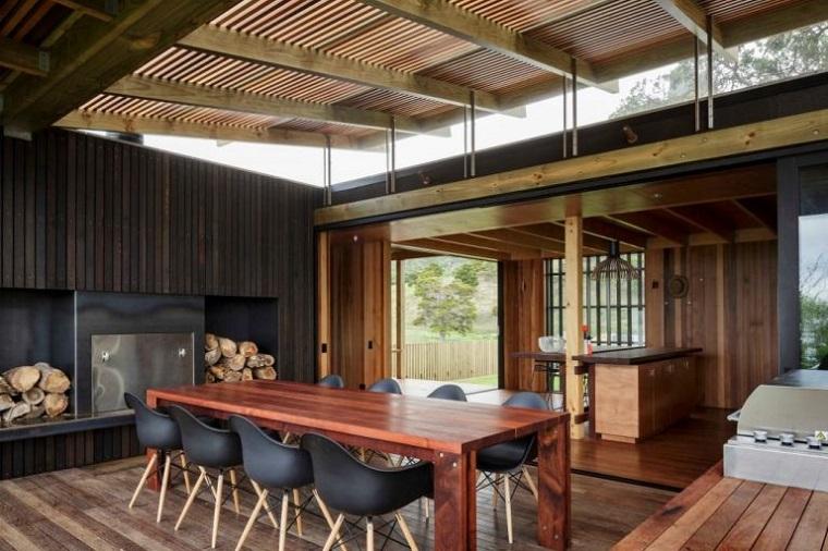 idea terrazzo coperto tavolo legno