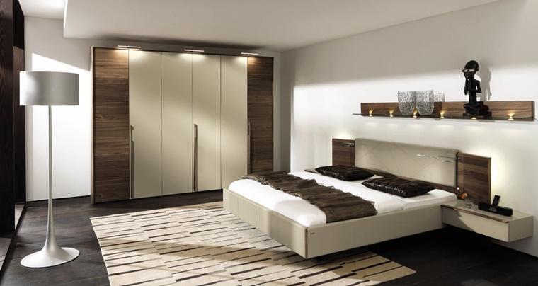 idea zona notte arredamento moderno inserti legno