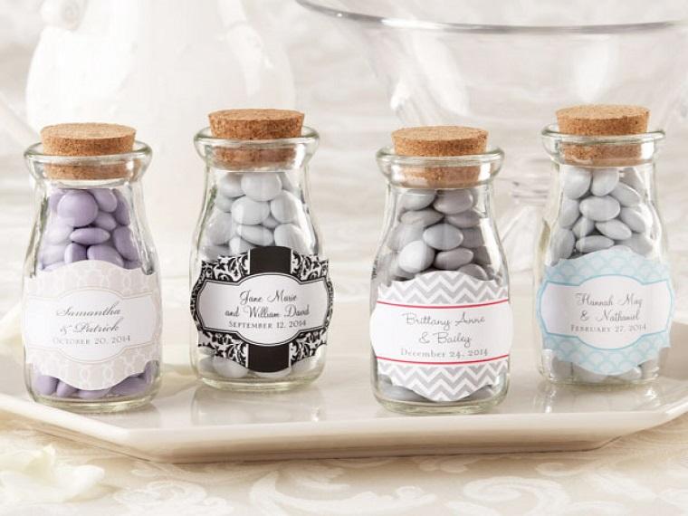 idee bomboniere matrimonio vasetti vetro tappo sughero