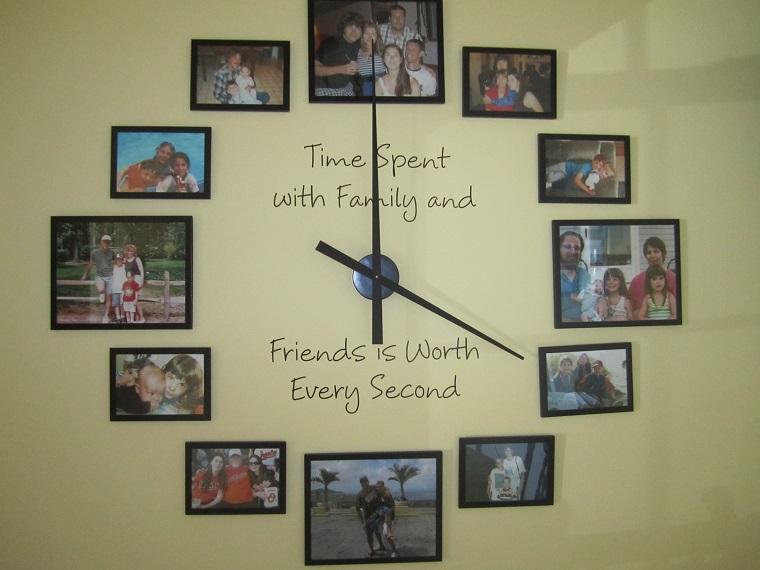 idee foto forma orologio immagini amici parenti