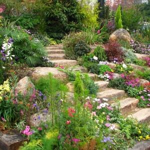 Giardini con sassi tante idee per valorizzare lo spazio esterno - Idee giardino in pendenza ...