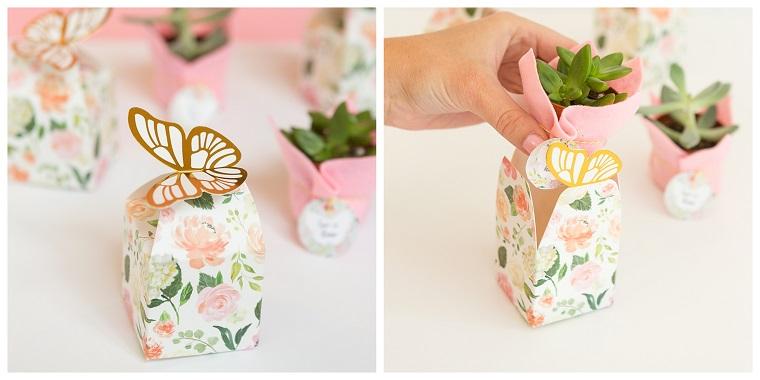 idee per bomboniere nozze d oro fai da te scatolette di carta con farfalla
