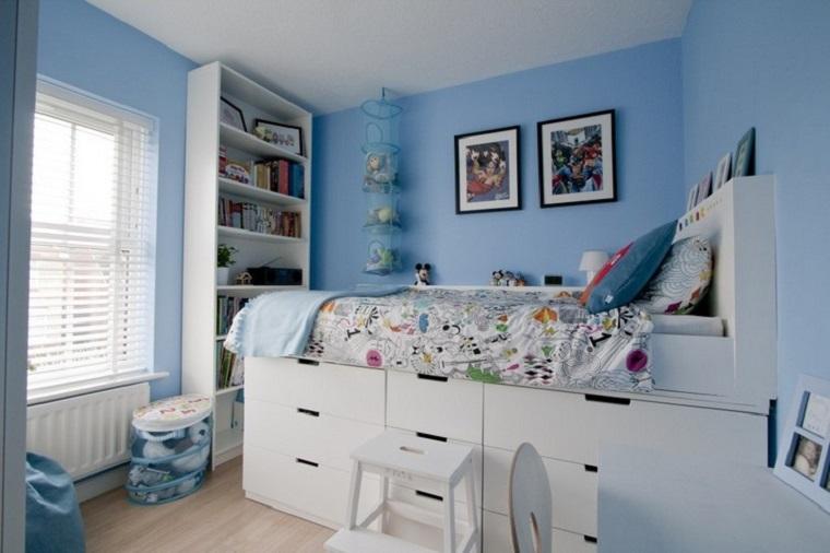letto contenitore alto legno bianco