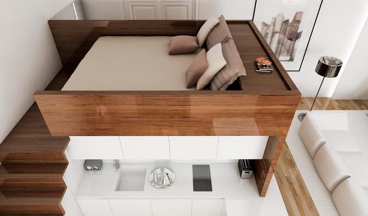 Letti design tante idee originali da mille e una notte - Costruire letto a soppalco ...