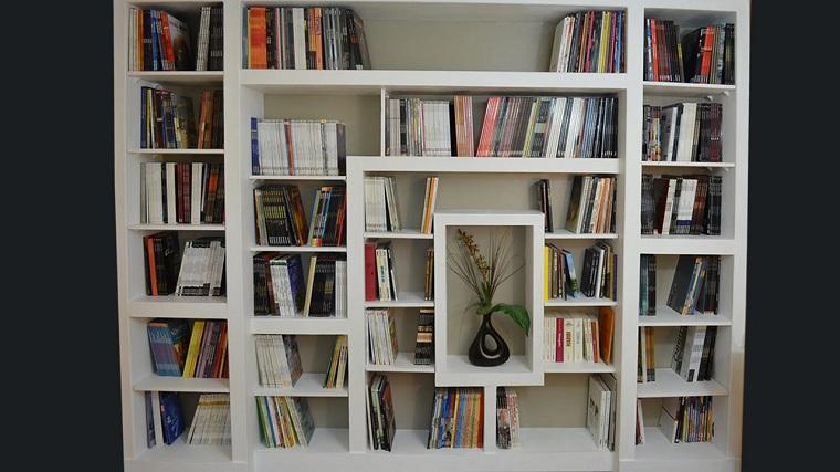 libreria in cartongesso nicchie varie misure