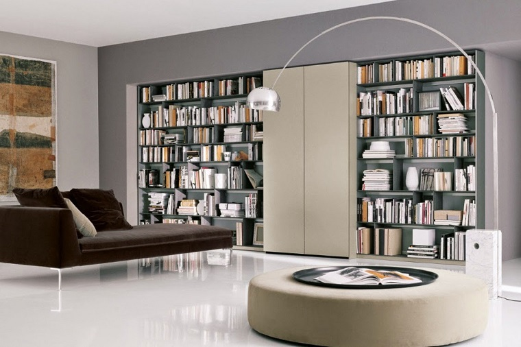 librerie in cartongesso living moderno