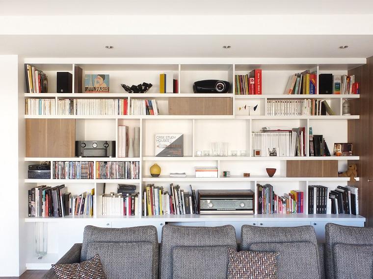 librerie in cartongesso soluzione classica