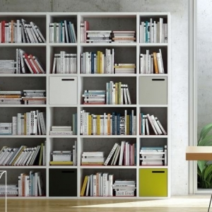 Librerie in cartongesso, input originali e di design per libri e suppellettili