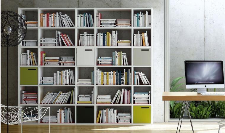 librerie in cartongesso stanza moderna