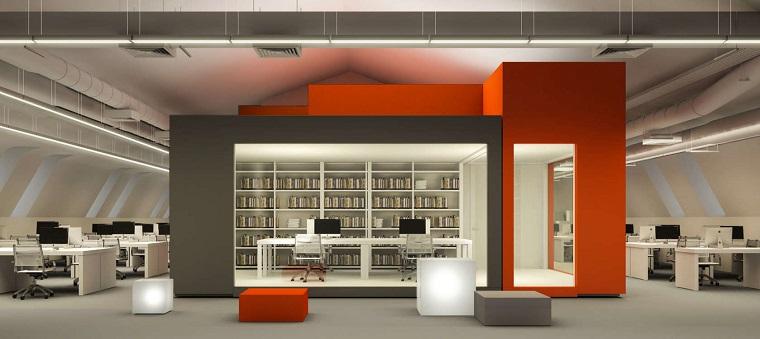 librerie in cartongesso ufficio concept avanguardia