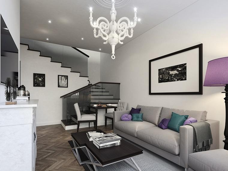 living moderni proposta mobili bianchi grigi