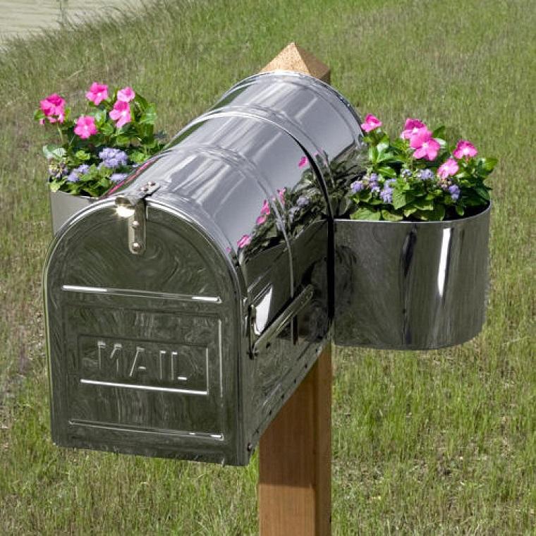 mailbox acciaio inox fioriera lati