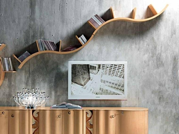 Arredamento casa con mensole e ripiani tantissime idee for Dischi di legno