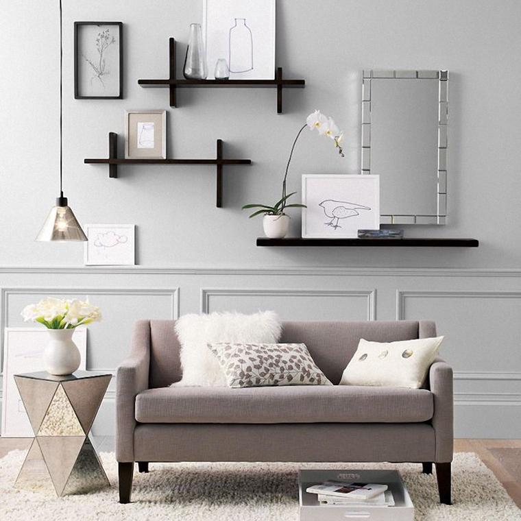 Mensole Per Soggiorno Moderno.Arredamento Casa Con Mensole E Ripiani Tantissime Idee Creative