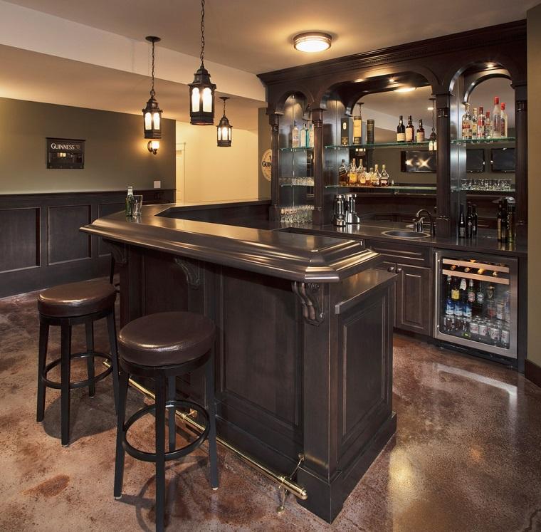mobile bar casa elegante finitura nera lucida