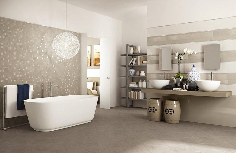 mobili bagno moderni color fango laccati