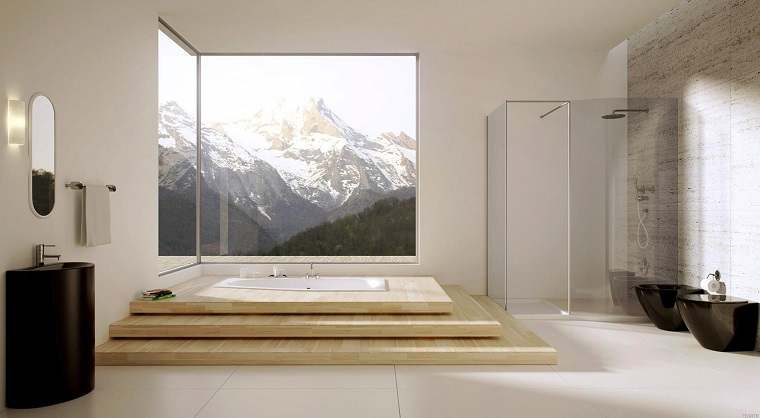 mobili bagno moderni vasca spettacolare