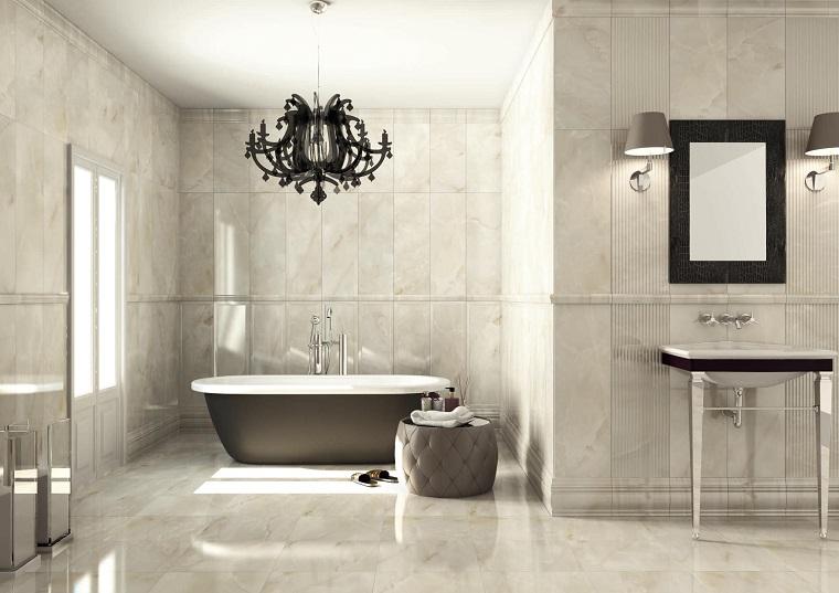 mobili bagno moderno lampadario elegante