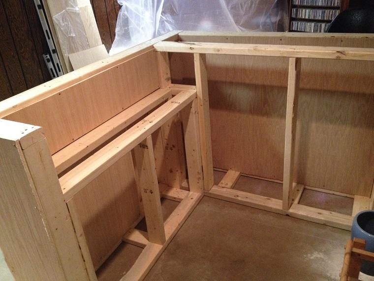 mobili bar fase costruzione struttura