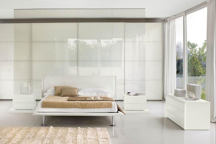 mobili camera da letto bianchi stile moderno