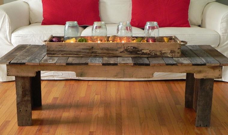 mobili con pallet tavolino design rustico