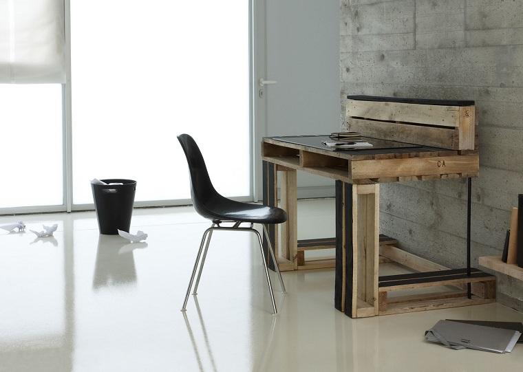 Arredo ufficio con pallet e alcune soluzioni originali fai for Arredamento ufficio design