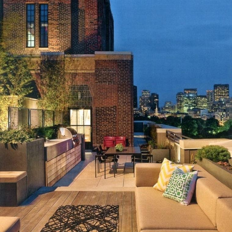 mobili da esterno stile moderno terrazzo grande