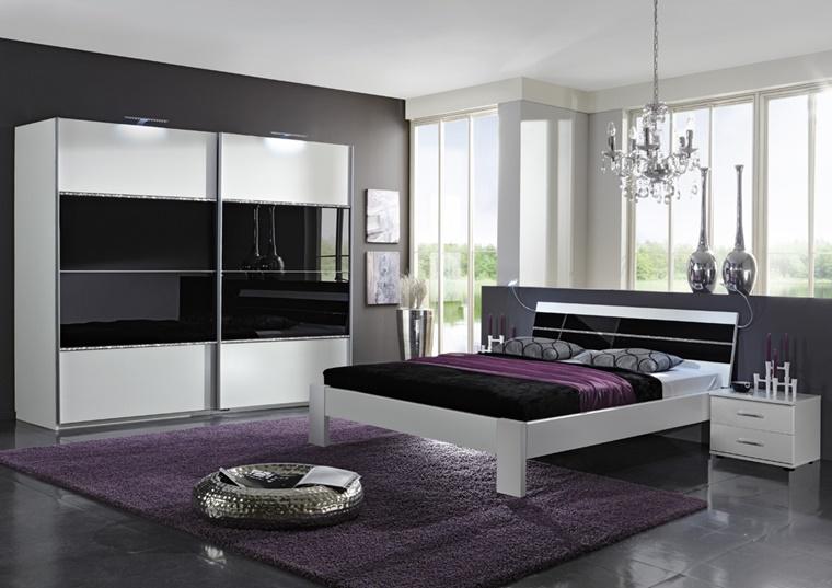 mobili moderni laccati camera letto