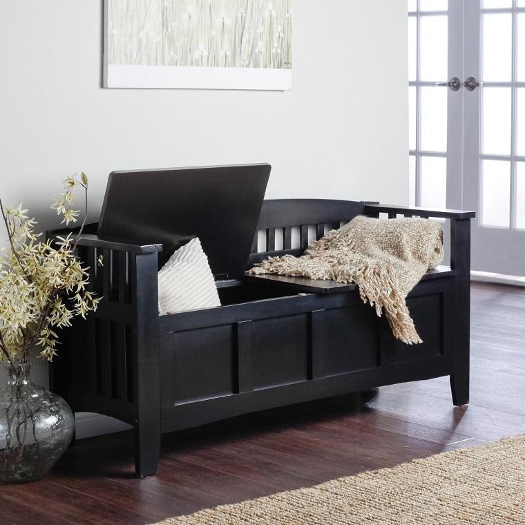 mobili per corridoio design classico colore nero