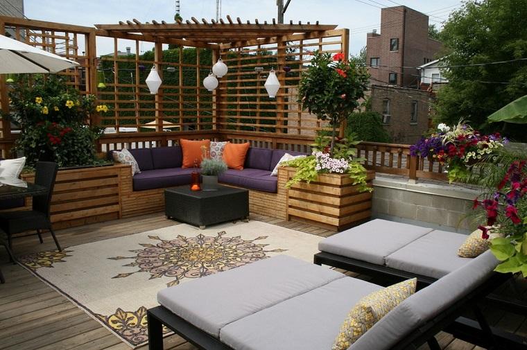 mobili per esterno idea terrazza urbana
