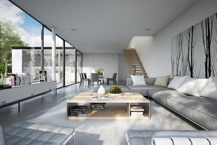 mobili soggiorno moderni sfumature neutre