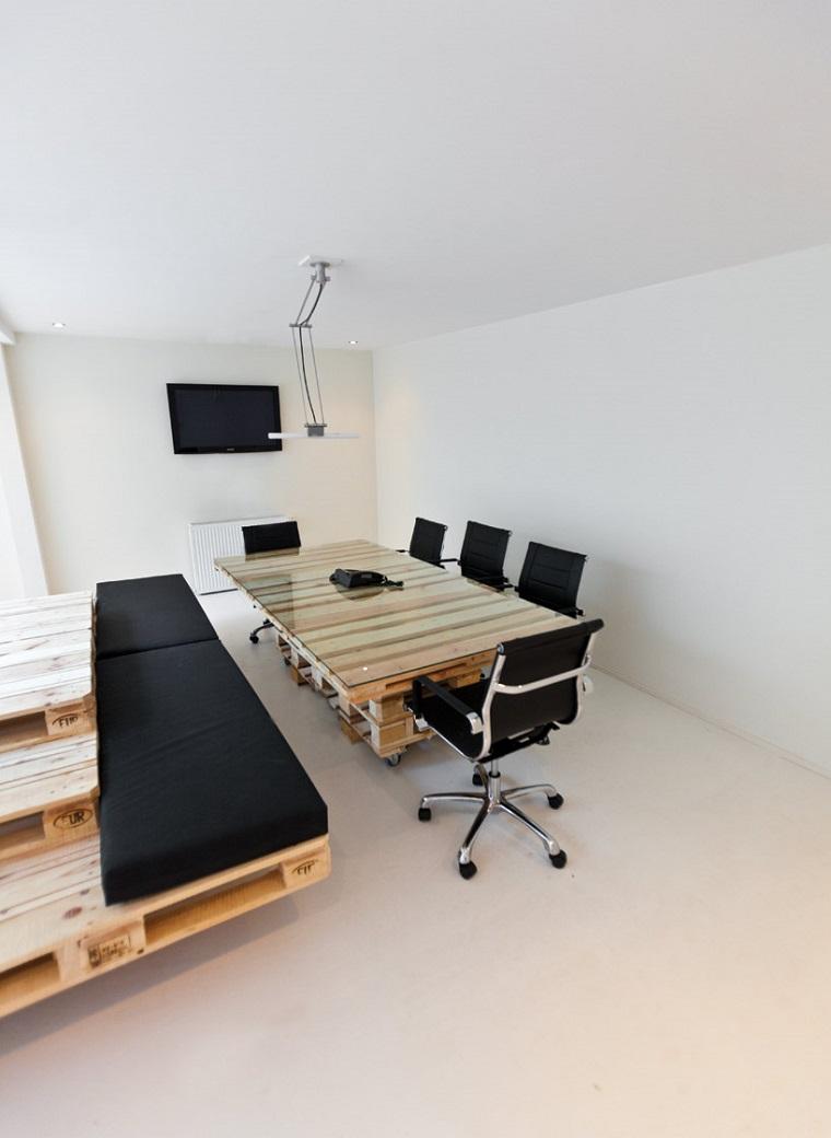 mobili ufficio scrivania seduta pallet
