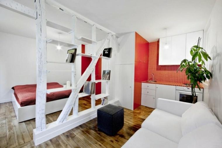 monolocale parete divisoria legno design speciale