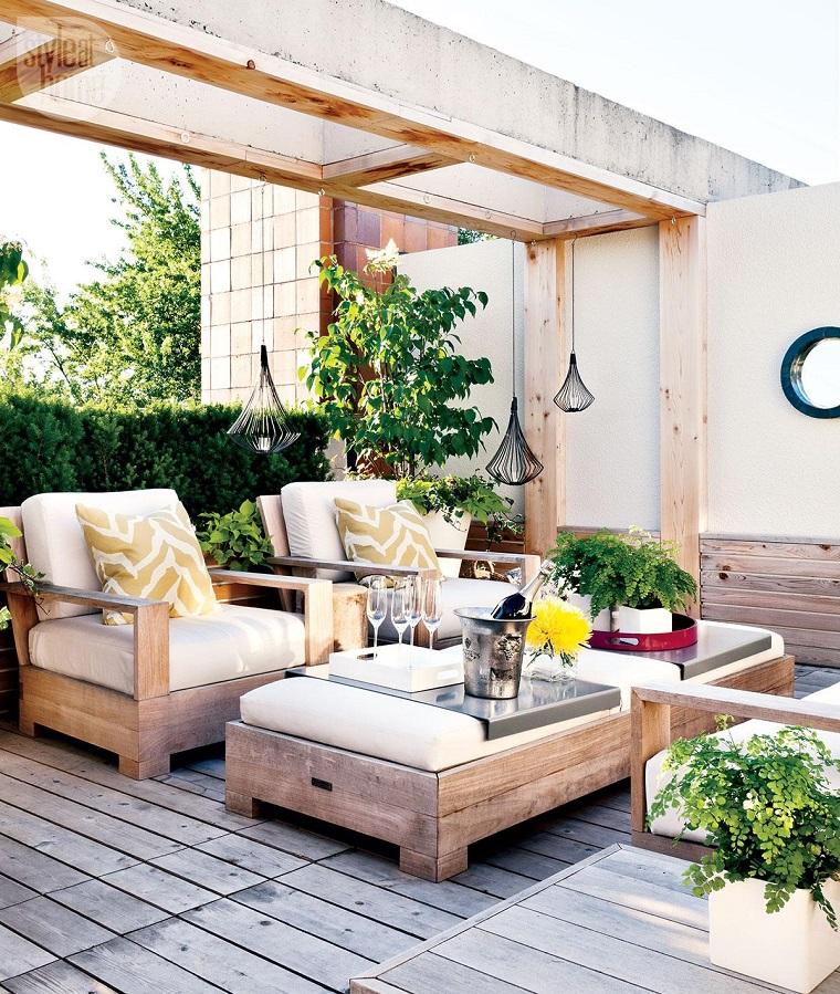 outdoor particolare mobili legno varie decorazioni