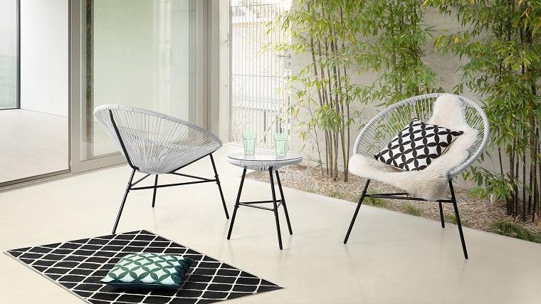 outdoor terrazzo arredato set design