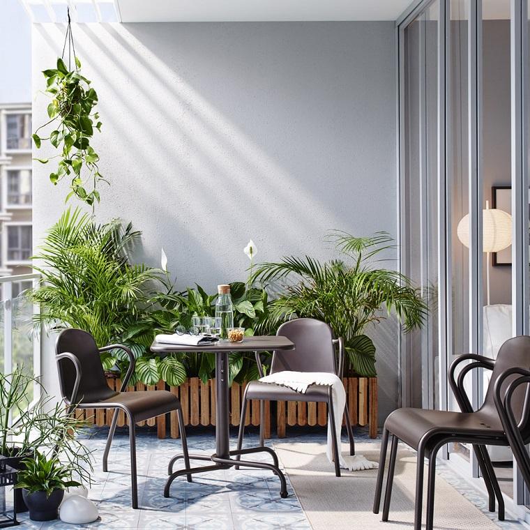 outdoor terrazzo tavolo sedie piante