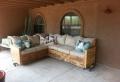 Pallet usati per creare dei mobili da esterno mozzafiato
