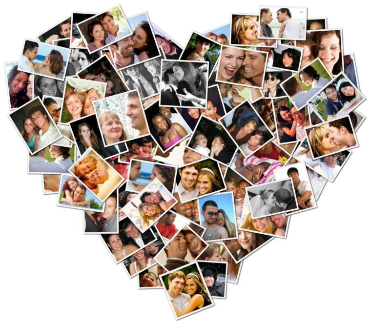 parete collage foto idea innamorati