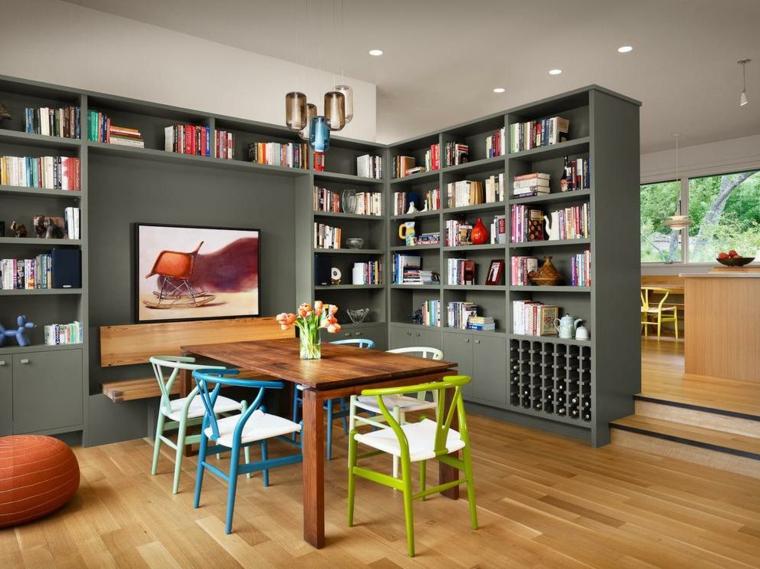 Parete divisoria per un soggiorno alla moda e di design - Archzine.it