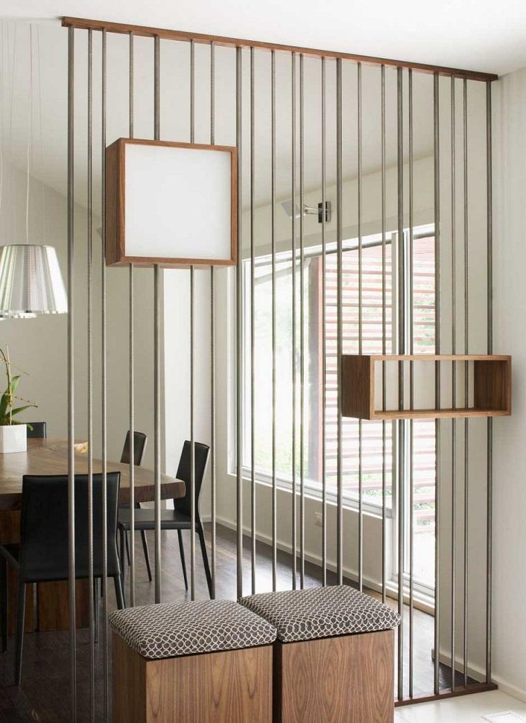 Parete Divisoria In Legno parete divisoria per un soggiorno alla moda e di design