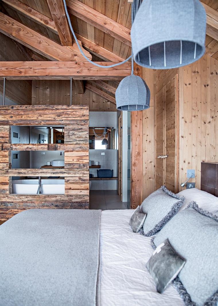 pareti grigie ambiente design rustico