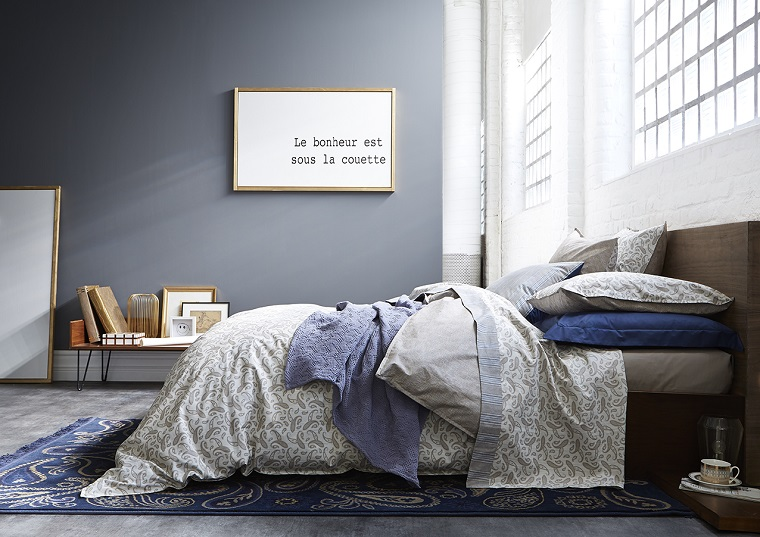Pareti grigie per la camera da letto con 34 sfumature a cui ...