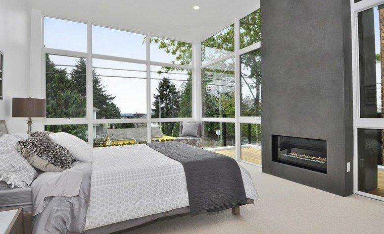pareti grigie idee decorazione stanza letto